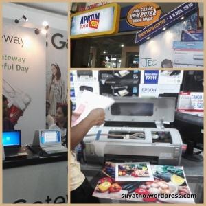 Suasana APKOMYES di JEC yang super rame & Printer Foto A3+ yang aku Idamkan (Doakan 3 bln kedepan bisa terbeli ya ..!)