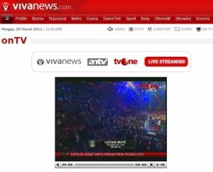 Tampilan Steaming di Vivanews.com