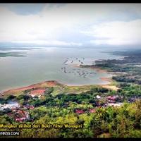 Pemandangan Waduk Gajah Mungkur dari Menara Filter