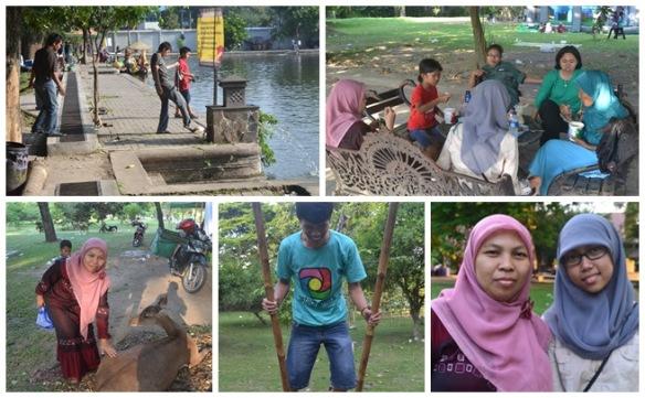 Piknik keluarga ke taman Balekambang, Solo..mumpung kumpul :)